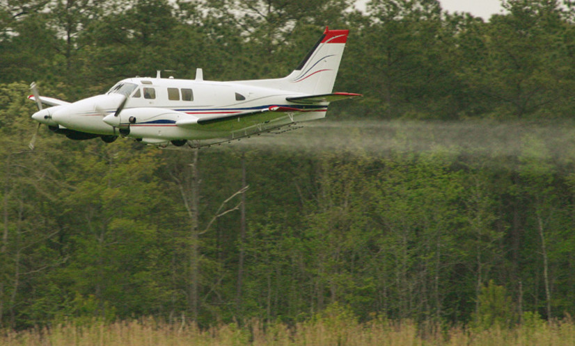 Mosquioto Abatement Spraying Aircraft Shot at by Resident