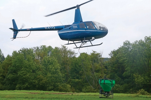 Helicopter Spreads 40,000 Pounds of Seed