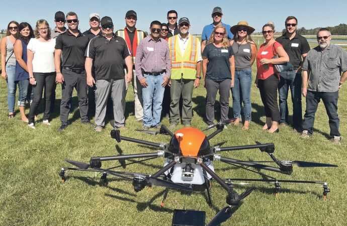 Work Starts on Drone Spraying Rules