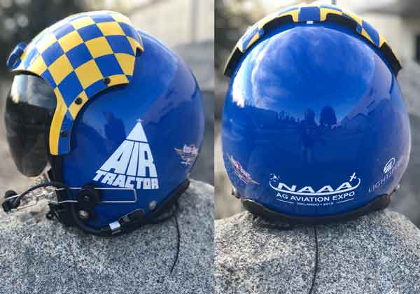 Custom Painted Air Tractor Helmet Goes Up For Bids at Ag Aviation Expo Live Auction