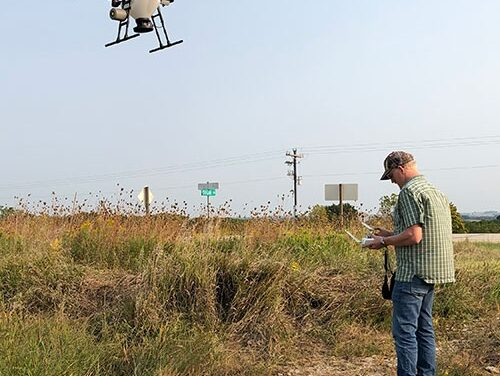 Using a drone to plant cover crops