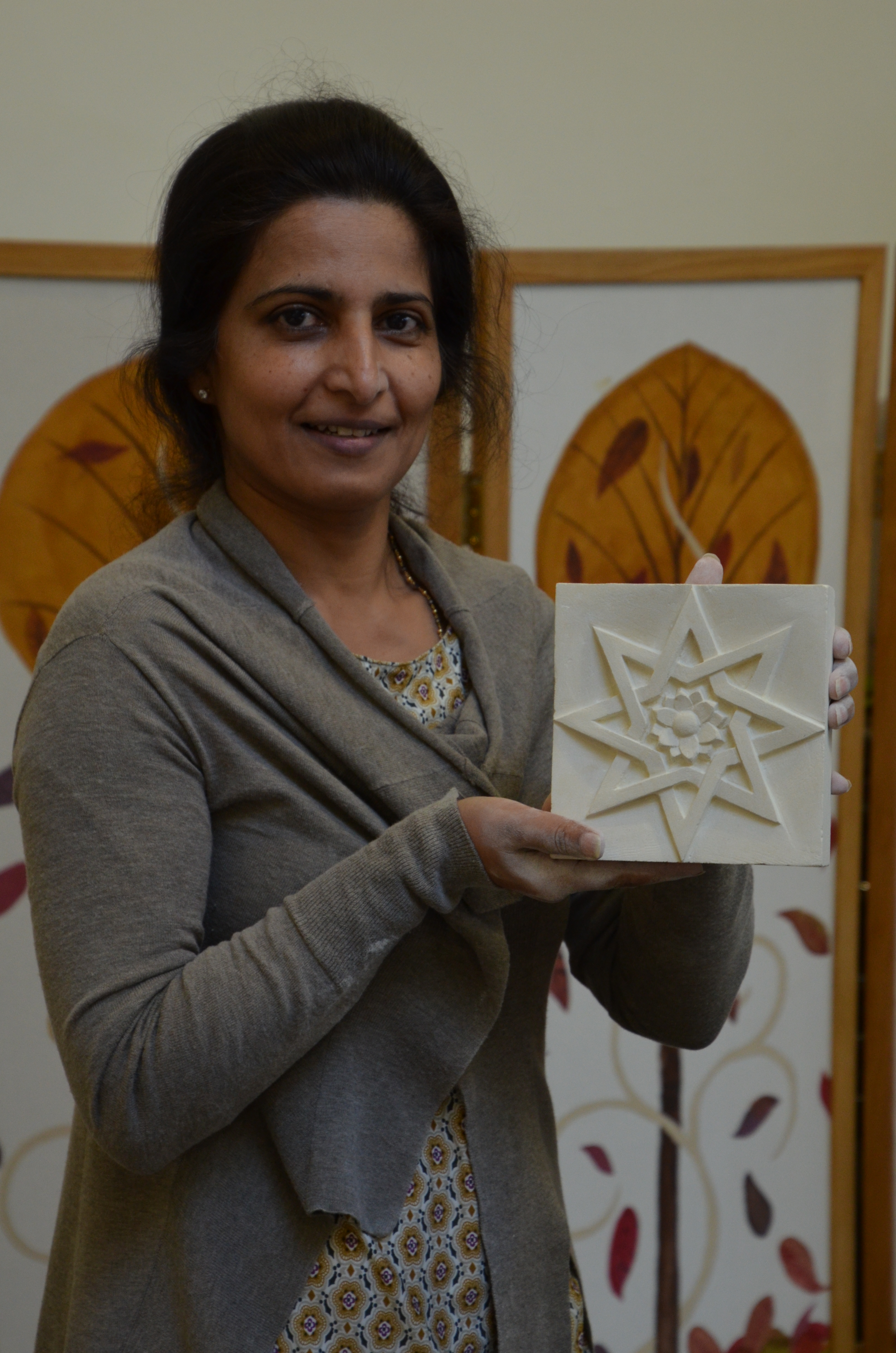'First time' stone carver proud of their creation