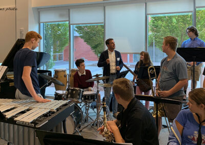 Joe McCarthy teaches Afro-Cuban music at Guilford High School