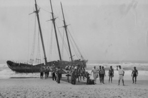 Shipwreck off Ocracoke Inlet Rondthaler Collection