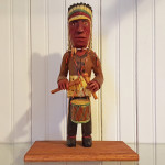 Native American themed carving