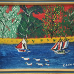 Boats and Ducks Painting by Charlie Ahman