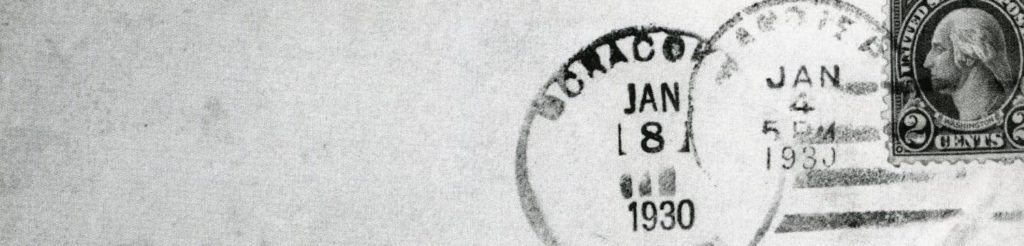 stamped envelope courtesy NC Division of Archives
