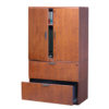 2 Drawer Lateral File with Stack-on Cabinet-3