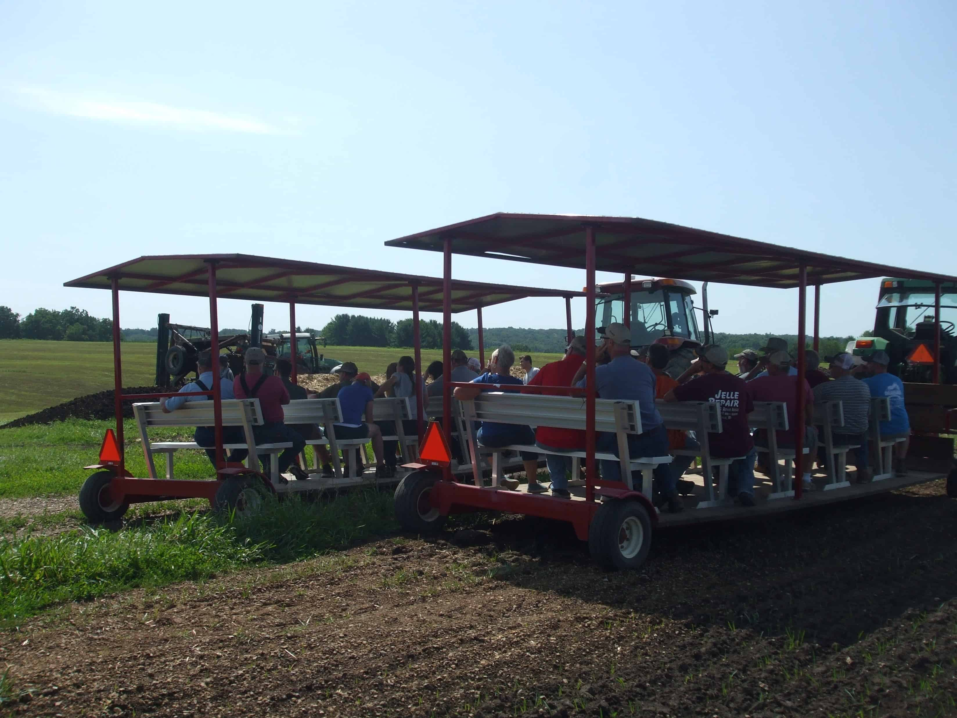people movers stopped at compost turning demo