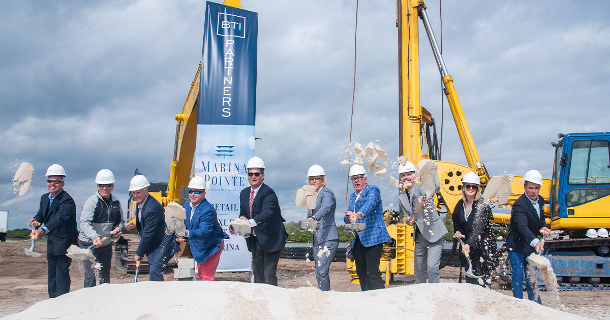 Marina Pointe Construction - Groundbreaking