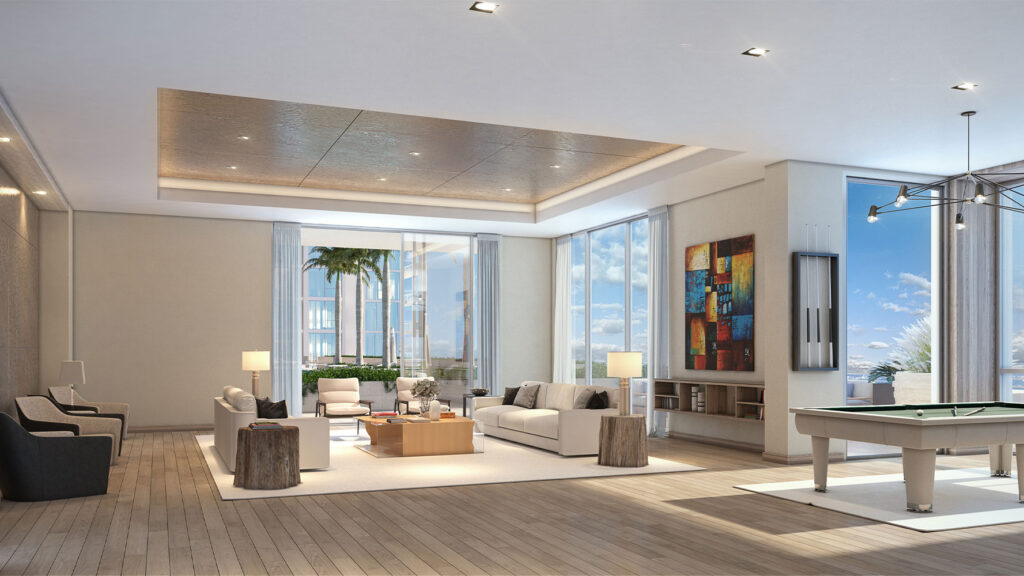 Exclusive residents clubroom and amenities