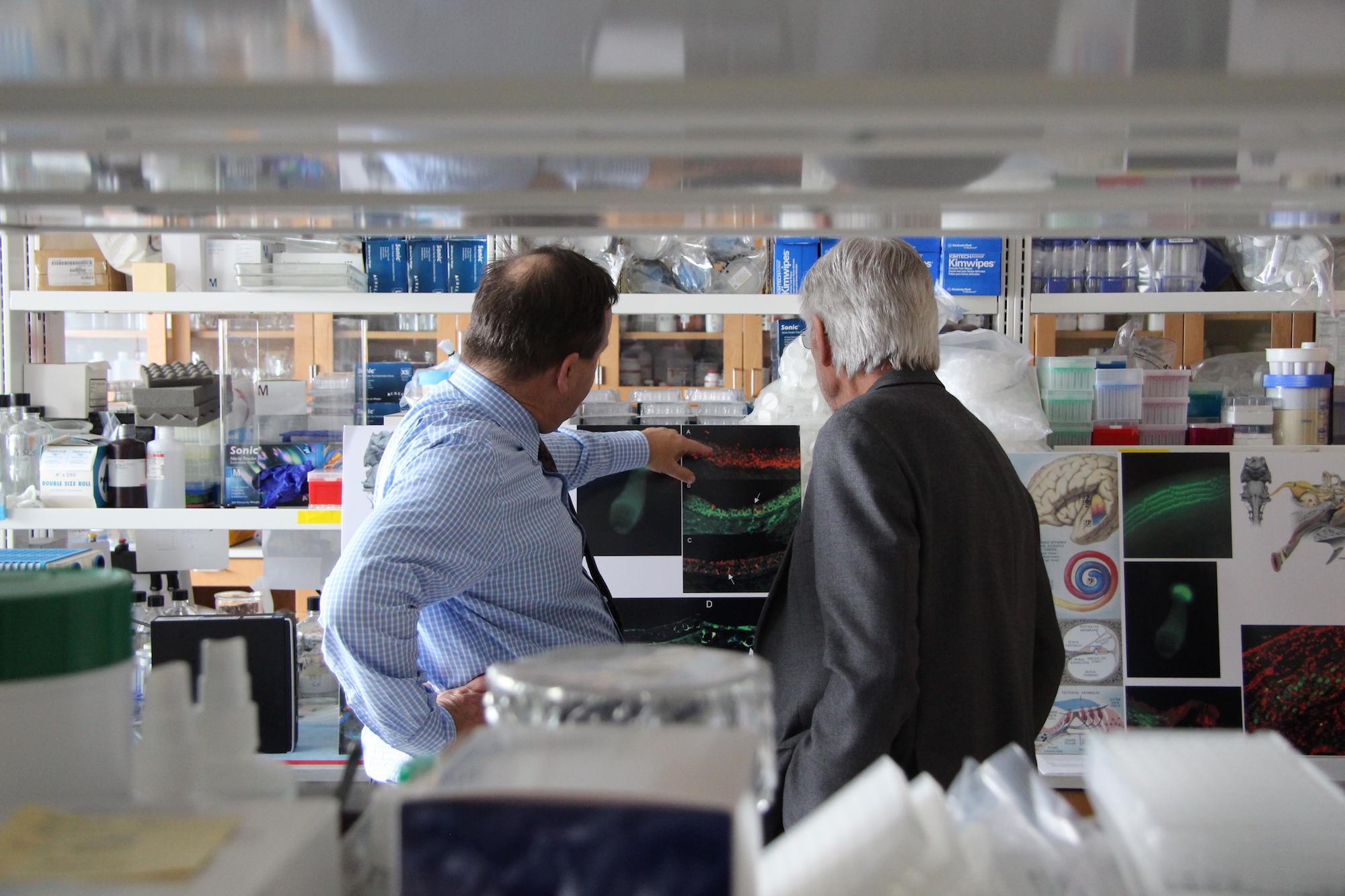 Rip Wilson with Dr. Hinrich Staecker