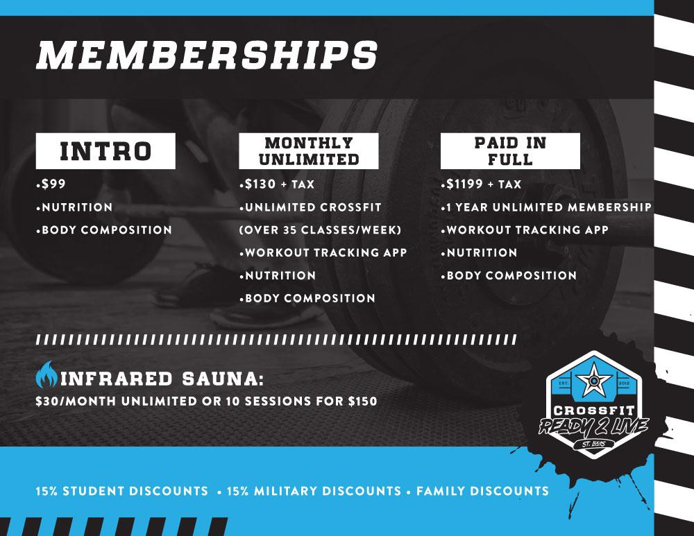 2018 membership prices