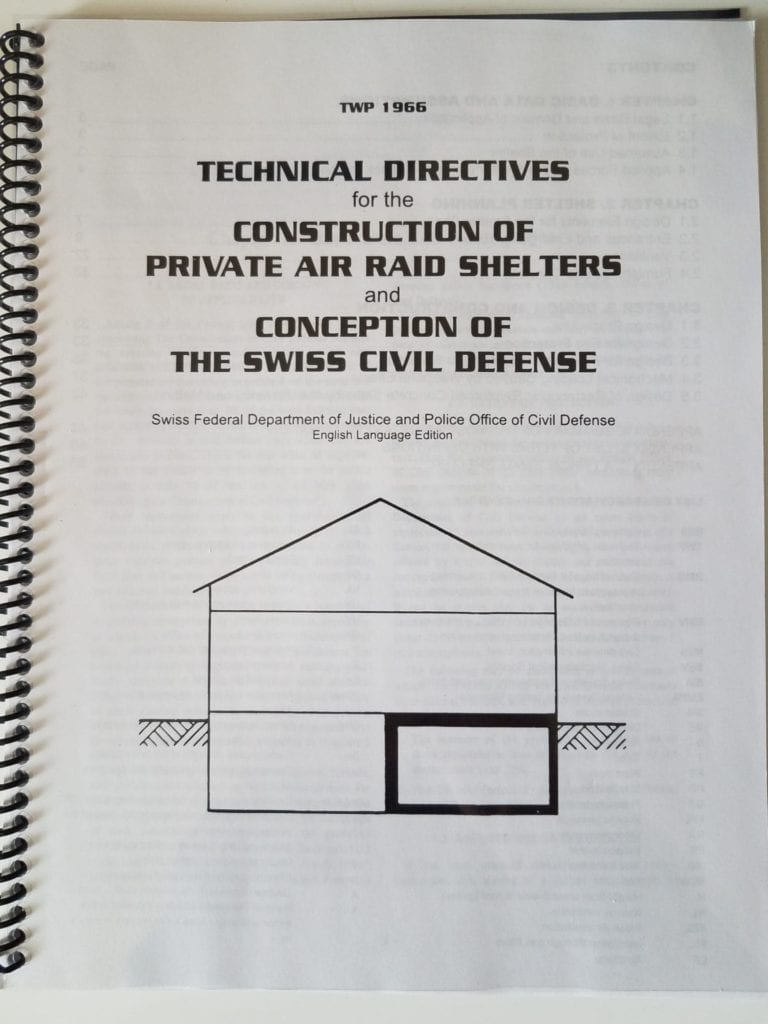 Cover of the manual for construction of private air raid shelters