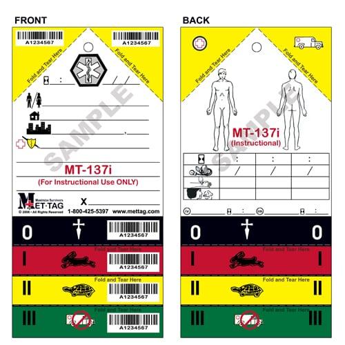 MT-137i Emergency Triage Training Tag