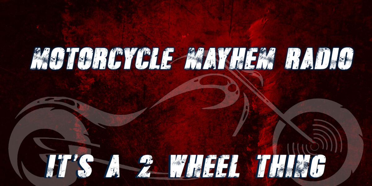 Motorcycle logo with text overlay