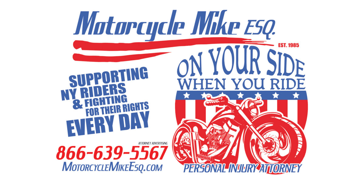 Motorcycle logo for attorney
