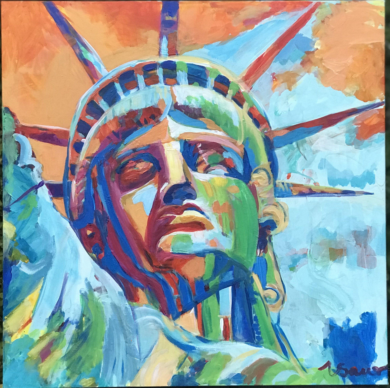 """Lady Liberty 24""""x 24"""""""