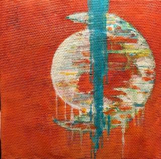 Orange Moon Abstract