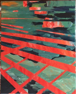 Pond Walk Abstract