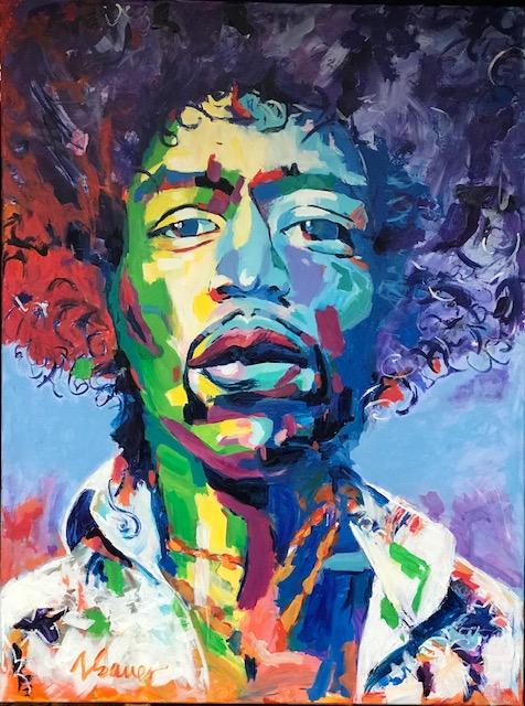 "Jimi Hendrix II 36""x 48"""