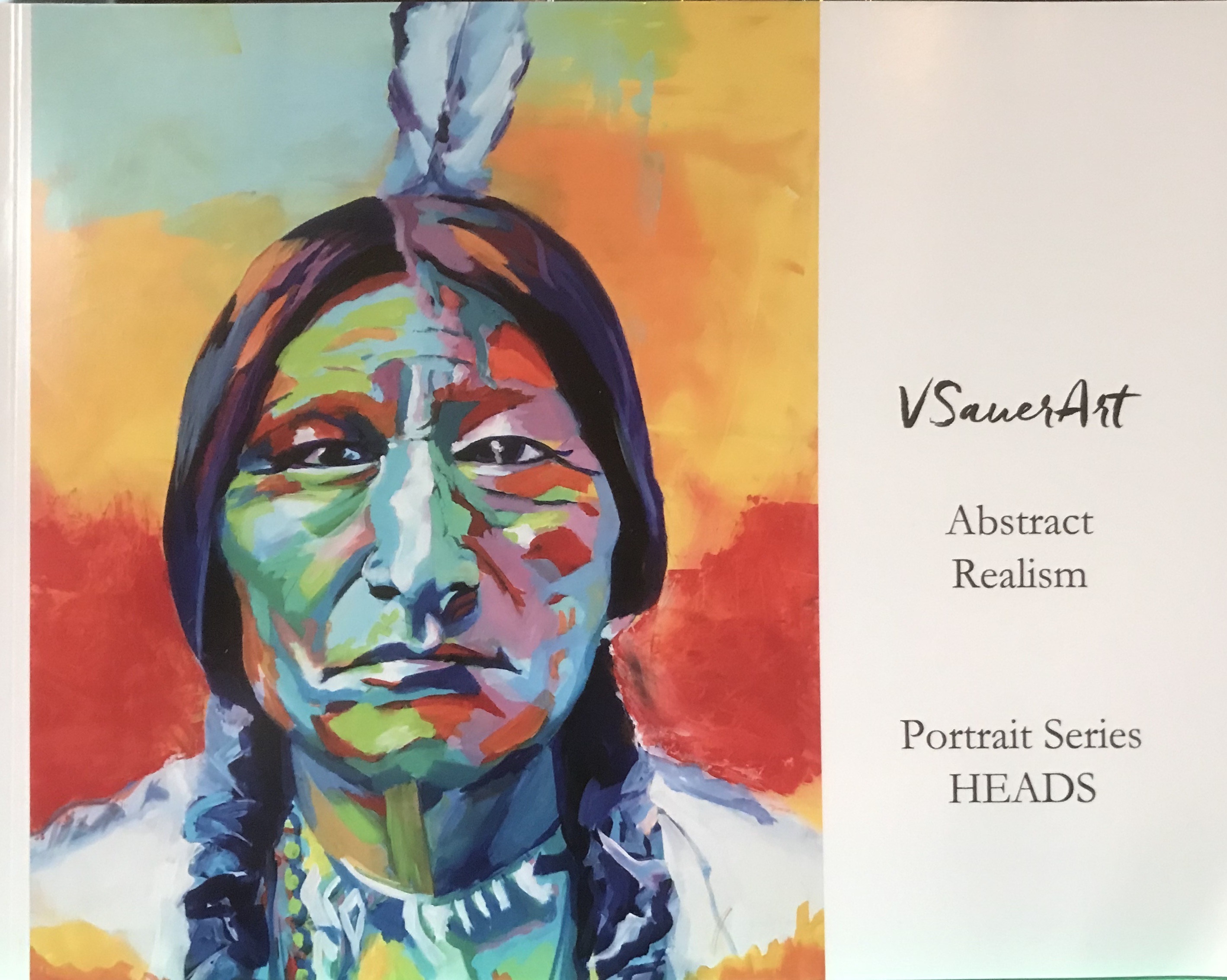 VSauer Art Abstract Realism Portrait Series Book