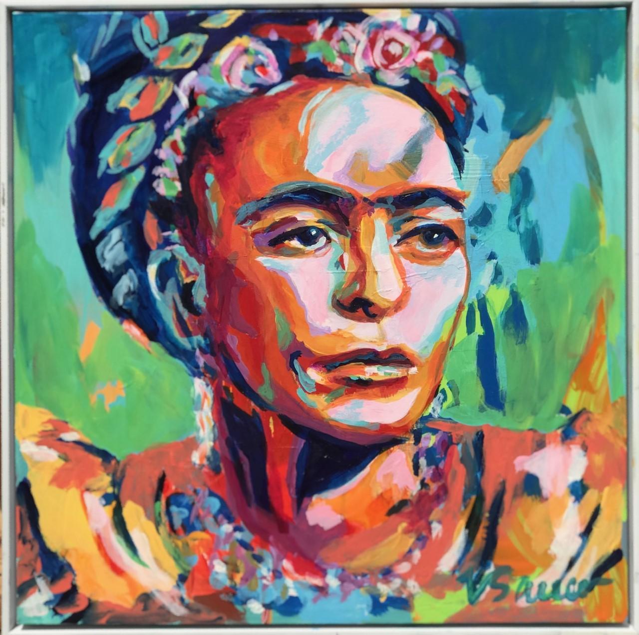 """Frida Kahlo 20""""x 20"""""""