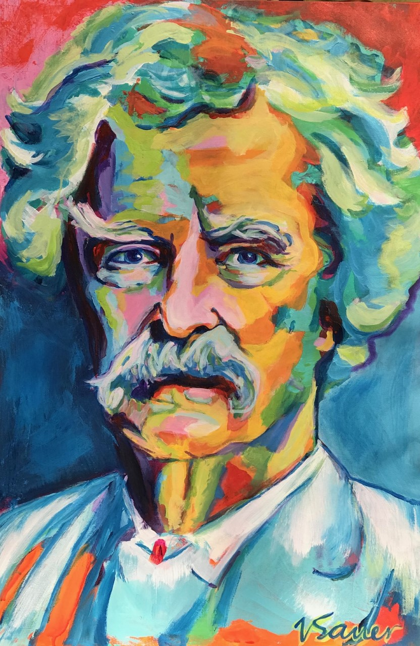"Mark Twain 24""x 36"""