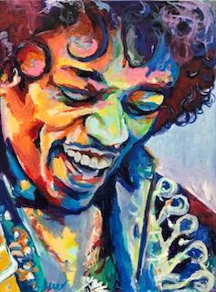 """Jimi Hendrix 4 36""""x 48"""""""