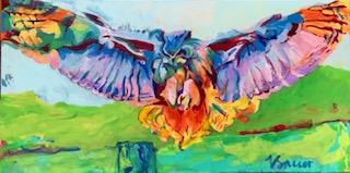 "Landing Owl 24""x 36"""