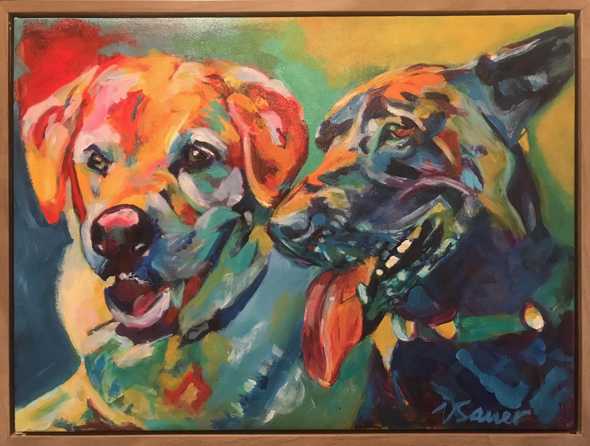 """Butters & Abby 18""""x24"""""""
