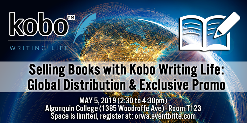 May 2019: Selling Books with Kobo Writing Life: Global Distribution & Exclusive Promo