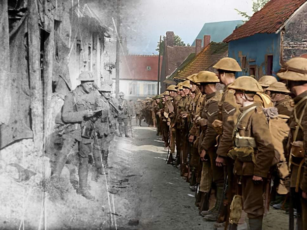 They Shall Not Grow Old mural