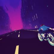 Sayonara Wild Hearts bike ride