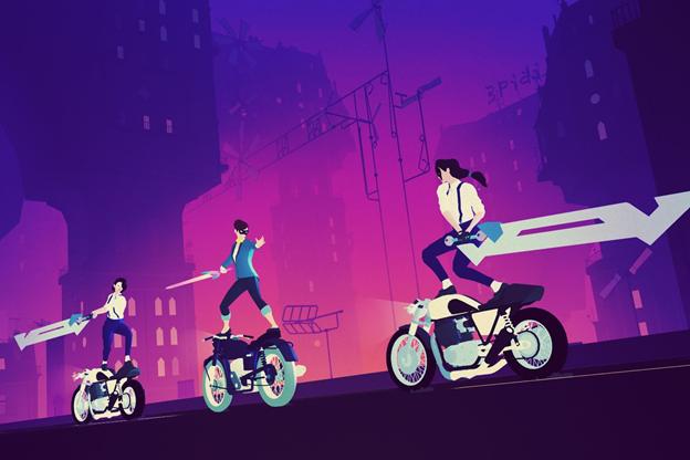Sayonara Wild Hearts bike