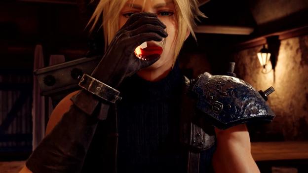 Final Fantasy Remake VII drink