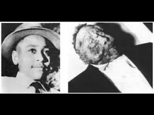 Emmett Till 14 beating, shot and body dump in the Tallahatchie River. Till's mother Mamie insisted on an open-casket public funeral, with the image of the boy's mutilated body shocking the country.photo source: emmettillsocialjustice.blogspot.com