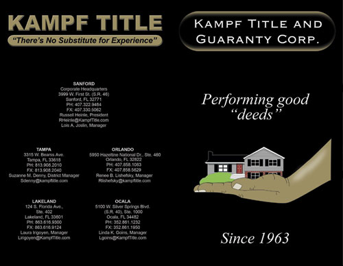 Kampf Title - Kampf Title and Guaranty Corp.