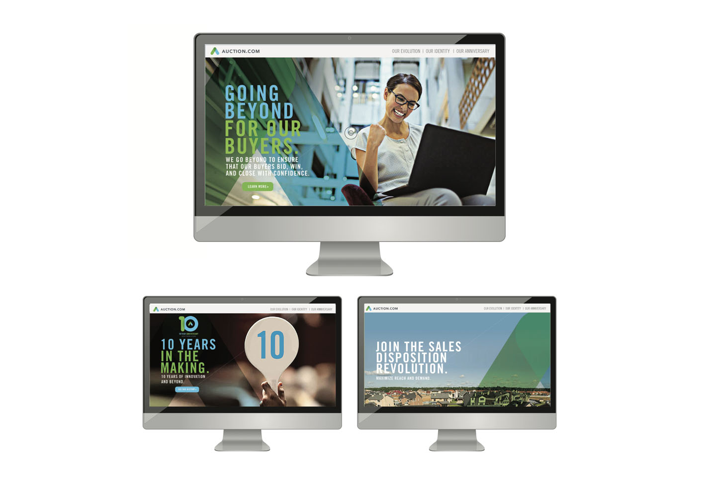 Auction.com website refresh by creative marketing agency in Costa Mesa