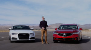 Acura MDX vs. Audi conquest campaign filmed at Honda proving grounds