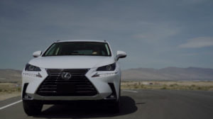 white Lexus NX photo from comparison video campaign