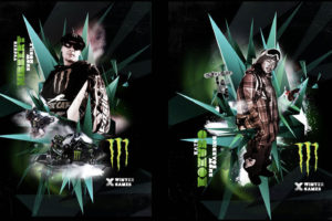 Monster Energy Winter X Games with Tucker Hibbert outdoor campaign