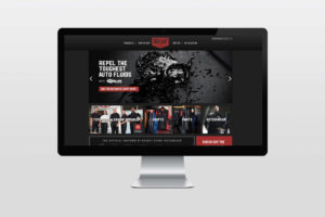 Red Kap campaign website custom shop with Oil block