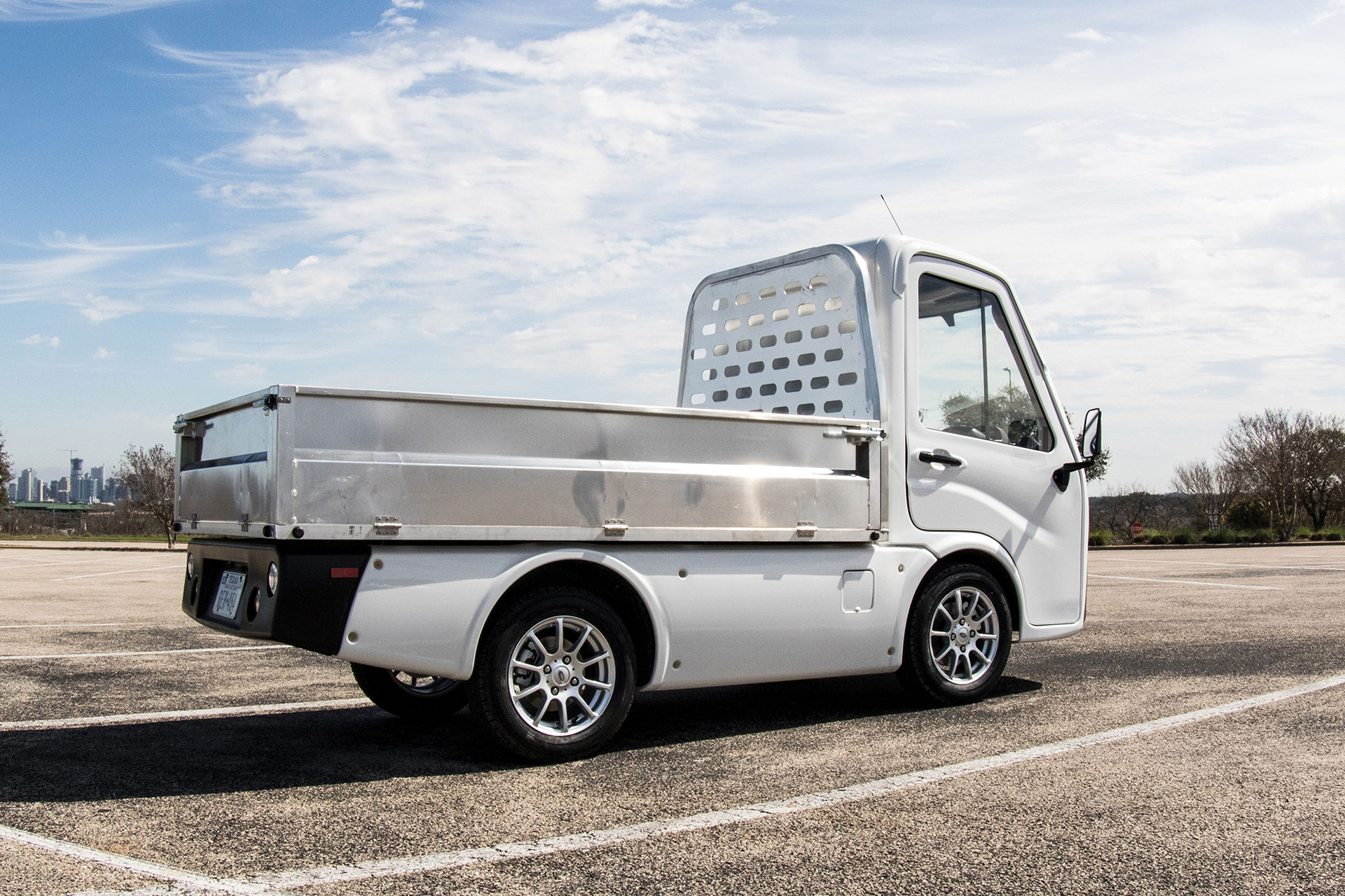 AEV electric last mile transportation vehicle from photoshoot and brand launch