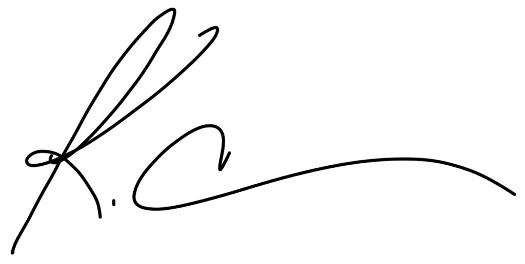 Signature of brand strategist, Kaitlyn Cole