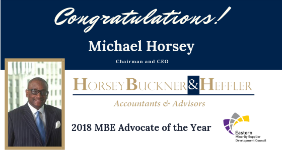 Congratulations to HBH's Michael Horsey, MBE Advocate of the Year