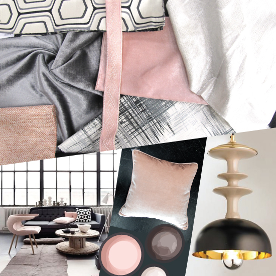 Ufabulous Moodboard Monday: Graphite Black & Blush