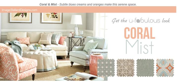Ufabulous Design Room: Coral & Mist