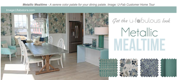 Ufabulous Design Room: Metallic Mealtime