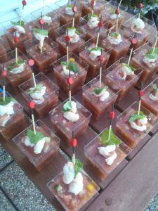 cocktail party - catering - gazpacho - hors d'oeuvres